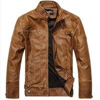 HAMPSON LANQE Motosiklet Deri Ceketler Erkekler Sonbahar Kış Deri Giyim Erkek Deri Ceketler Erkek Iş rahat Mont