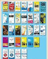 Paquete de venta al por menor vacío Cajas de papel 10pcs cada caja barata Empaque para el protector de pantalla Premium Glass 9H de Sony Templado Samsung iPhone Samsung