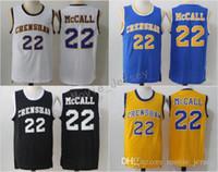 Quincy McCall AMOR E BASQUETEBOL Moive Jersey 22 Quincy McCall Crenshaw Basquete Jersey High School Barato S-XXL Preto Azul Amarelo Branco