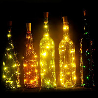 2M 20 LED LED Bottle Wine Cork String Lights Christmas Silve...