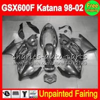 8Gifts Kit carenatura completa non verniciata per SUZUKI GSX600F Katana GSX 600F GSXF600 98 99 00 01 02 1998 1999 2000 2001 2002 Carene Carrozzeria Corpo