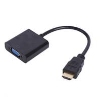 جديد 1080P HDMI ذكر إلى أنثى محول فيديو محول VGA للكمبيوتر دي في دي التلفزيون عالي الوضوح