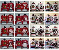 2018 Chicago Blackhawks 19 Jonathan Toews 88 Patrick Kane 81 Marian Hossa Saad Sharp 2 Duncan Keith 7 Brent Seabrook Crawford Maillots de Hockey