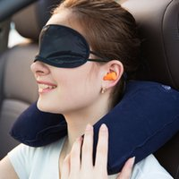 New U neck pillow travel pillow Flight Car Inflatable Neck U...