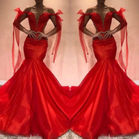 Red Bateau Evening Dresses Sleeveless Trumpet Prom Gowns Back Zipper Sheer Neck Sweep Train Custom Made Formal Occasion Party Gowns
