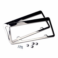 Stainless Steel License Plate Frame Tag Cover Holder For Aut...