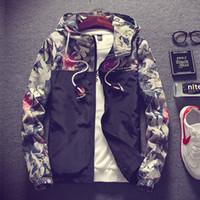 Envío de la gota 2018 Floral Bomber Jacket Hombres Hip Hop Slim Fit Flores Pilot Bomber Jacket Coat Chaquetas con capucha de los hombres más tamaño 4XL D18100803