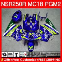 Honda NSR 250 R MC18 PGM2 NSR 250R NS250 NSR250R 88 89 78HM.16 MC16 NSR250 R RR NSR250RR 1988 1989 88 89フェアリングキットMovistar Blue