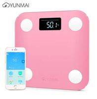 جديد yunmai البسيطة الذكية الإلكترونية lcd الرقمية مقياس الوزن الجسم الدهون الحمام مقياس الذكية الرقمية مع التطبيق التحكم 3 ألوان
