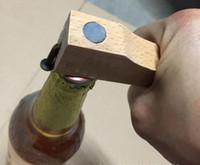 Venda quente Ímã Abridor de Garrafa de Cerveja Proteção Ambiental De Madeira Lidar Com Unhas De Saca De Cerveja Cozinha Bar Suprimentos