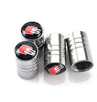 Chrome Metal Car Wheel Tire Valve Caps For Audi SLine A1 A3 ...