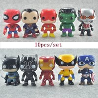 FUNKO POP 10pcs set DC Justice action figures League & Marve...