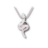 El montaje pendiente de la jaula del medallón de la serpiente 18KGP, puede sostener un collar pendiente de la perla de 7-8 milímetro que cabe encantos encantadores