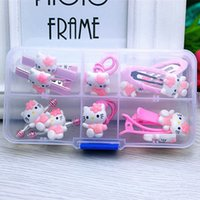 e17faf29c Wholesale hair clips hello kitty online - 1 gift set hello kitty accessories  for baby children
