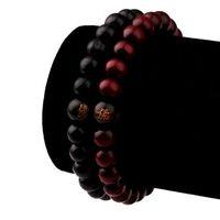Perle di legno per donna Bracciali Hip Hop Rappers Gioielli Regali Sandalo Cinese Buddista Buddha Meditazione Preghiera Bead Bracelet