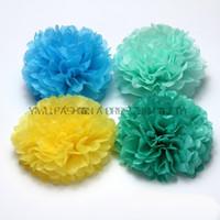 Verfügbar Papier Ponpon Rosenball Garlands Partydekoration 12 Zoll 12st Lot Tissue orange Papier Pom Poms Blume