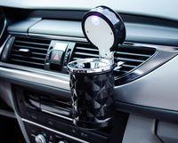Araba Aksesuarları Taşınabilir LED Işık Araba Küllük Evrensel Sigara Silindir Tutucu Araba Styling Mini