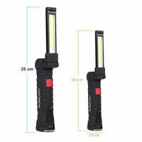 الكوز مصباح الصمام ضوء ضوء العمل مع المغناطيس المحمولة مضيا التخييم في الهواء الطلق العمل الشعلة USB قابلة للشحن المدمج في البطارية