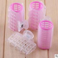 3 قطعة / المجموعة الكمال بكرات الشعر الوردي الشفافية الشعر اسطوانة البلاستيك ذاتية اللصق ماجيك رول أدوات تصفيف الشعر العناية