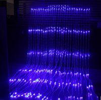 cortina de 3x3m 320LED Água acende Cachoeira Waterproof Meteor chuveiro de chuva LED corda luzes para a luz do feriado do casamento Decor Christimas partido
