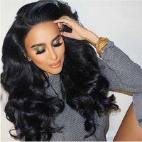 Бразильский 360 кружева фронтальная парик объемная волна дешевые полный кружева фронтальная человеческих волос парики для чернокожих женщин 360 парик шнурка с волосами младенца