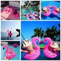 Aufblasbare Flamingo Getränkehalter Swim Drink Floats Getränkehalter Summer Pool Bath Beach Getränkeboot Getränkehalter AAA341