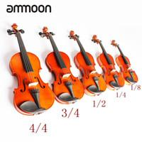 고품질 1/8 바이올린 피들 우드 바디 스틸 스틸 아버 보우 현악기 악기 뮤지컬 토이 어린이 초보자를위한