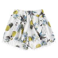 Womens Abacaxi Impressão Mid Cintura Solta Shorts Elástico Na Cintura Shorts de Poliéster Das Mulheres verão harajuku # 52220