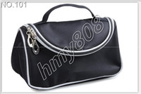 Travel Cosmetic Bags Double Zipper Black Makeup Bags Smile H...
