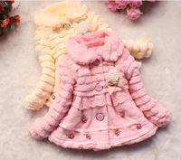Venta caliente nuevos Niños Outwear Niños Pequeños Abrigo de Invierno Junoesque Bebé Faux Fur Fleece Forrado Abrigo Niños Chaquetas Abrigos