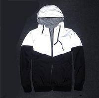 Nouveau Hommes Veste Automne Patchwork Réfléchissant Zipper Veste Sport Hip Hop En Plein Air Étanche Coupe-Vent Hommes Manteau Hommes Zipper Grande Vente Vêtements