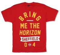 "BRING ME THE HORIZON "" SHEFFIELD"" RED T- SHIRT NEW O..."