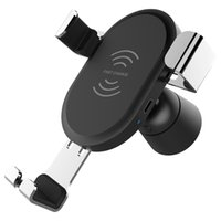 BQ001 Car Mount Qi Cargador inalámbrico QC3.0 Cargador rápido Cargador rápido Car Holder Stand para iPhone X 8 Samsung S8