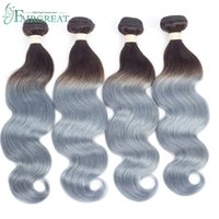Malaysian Body Wave Hair Bundles Grey Silver Ombre Human Hai...
