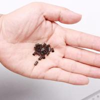 1000 pz 3.4 * 3.0 * 6mm 3.5mm flare Euro Lock tubi di rame Micro Anelli collegamenti perline per bastone I tip estensioni dei capelli 3 # marrone scuro