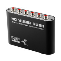 Nouvel audio optique numérique AC3 / DTS au convertisseur RCA stéréo à canal 5.1 / 2.1 converti en signal multimédia 120db en bruit