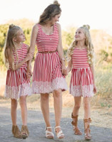 Mother kids Mom and daughter dress striped mother daughter d...