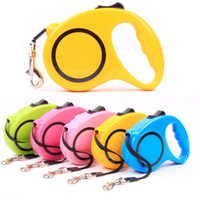New Retractable Dog Leash Adjustable Handle Dog Collar Leash...