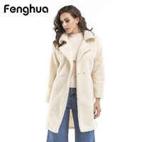 Fenghua Women Faux Fur Coat 2018 Winter Fluffy Faux Long Fur...