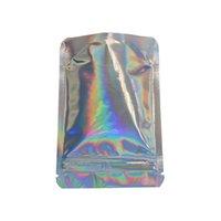 Stand Up Glittery Yüzey Zip Kilidi Stand Up Kılıfı 8.5x13 cm Çantanabilir Fermuar Üst Mylar Folyo Çanta Şeker Tozu Koku Geçirmez Saklama Çantası