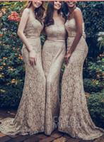 Meerjungfrau Spitze Schatz Camo Brautjungfer Kleider Einfache Designs Lange Sexy African Nigerian Spitzenkleid 2018 Party Prom Dresses