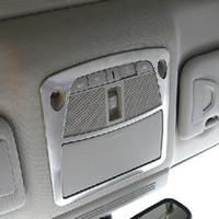 A l'intérieur liseuses avant de toit arrière Couvercle de la lampe garniture sticker décoratif pour Infiniti Q50 QX50 intérieur Accessoires