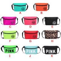 Pink Fanny Pack Pink Letter Waist Belt Bag Beach Bags Waterp...