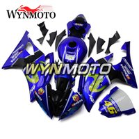Kit carrozzeria completo Moto Carene ABS nere blu per Yamaha YZF600 R6 2008 - 2016 2009 2010 2011 2012 2013 2014 2015 Carenature per carrozzeria