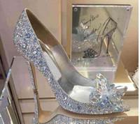 2018 Высший сорт Золушка Кристаллическая обувь Свадебные стразы Свадебные туфли с цветком из натуральной кожи большой маленький размер35 до 40