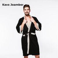 2018 Nuevo Albornoz de Franela Hombres Otoño Invierno Albornoz Camisón Casual Largo Hombres Mujeres Ropa de Dormir Prendas de baño Homewear AB274
