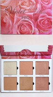 Hot New Violet Voss Pro Highlighter Paleta 6 Odcienie Rose Gold Face Podświetlanie Kontur Proszek Makijaż Palety Bronzer Kit Darmowa wysyłka