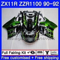 Body For KAWASAKI NINJA ZX- 11R ZZR 1100 ZX11R 90 91 92 205HM...
