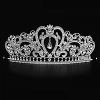Bling Perlen Kristalle Hochzeit Kronen 2018 Braut Diamant Schmuck Strass Stirnband Haarkrone Zubehör Party Tiara Günstige Kostenloser Versand