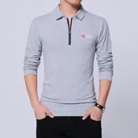 2018 뉴 남성 폴로 셔츠 브랜드 남성 폴로 셔츠 긴 소매 캐주얼 남성 셔츠 남성 폴로 셔츠 4XL 5XL